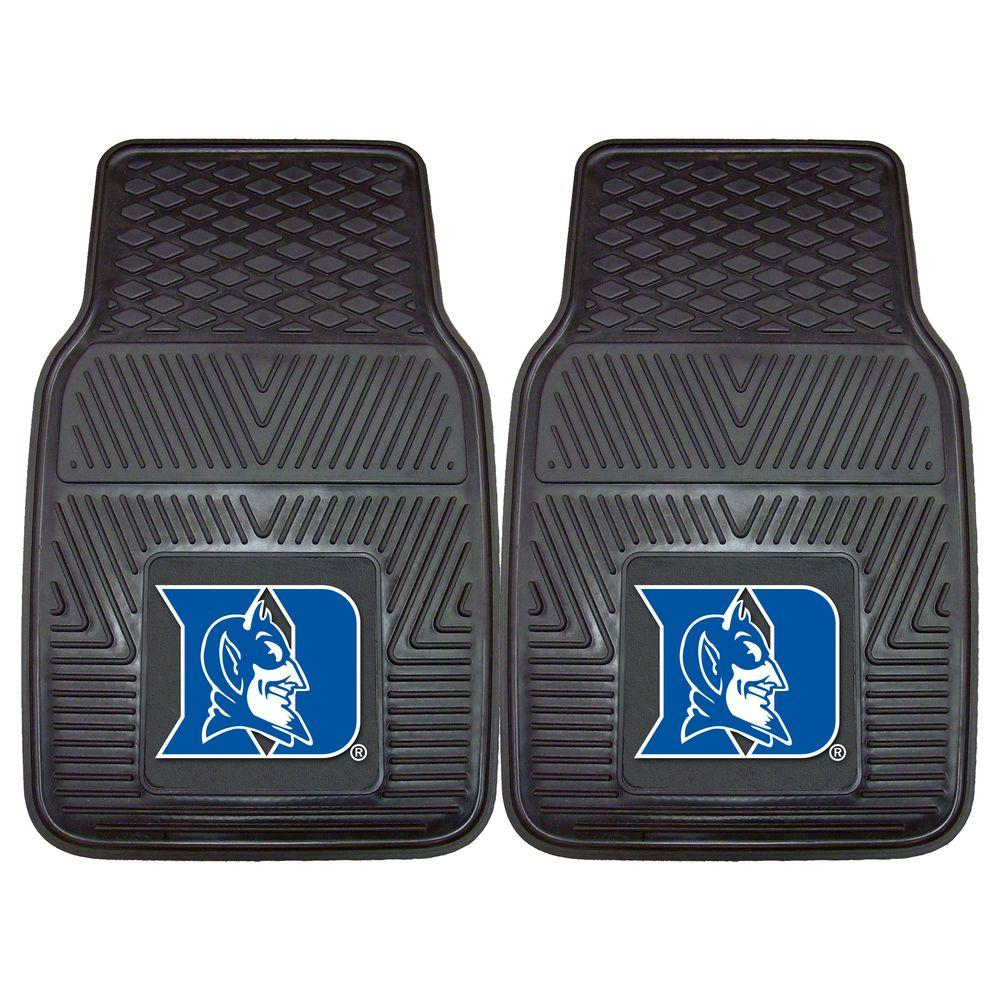 FANMATS Duke University 18 in. x 27 in. 2-Piece Heavy Duty Vinyl Car Mat