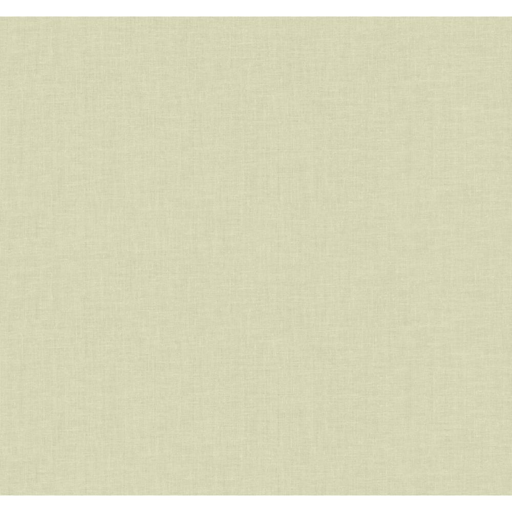 YORK Gold Leaf Linen Texture Wallpaper, Ivory/Grey