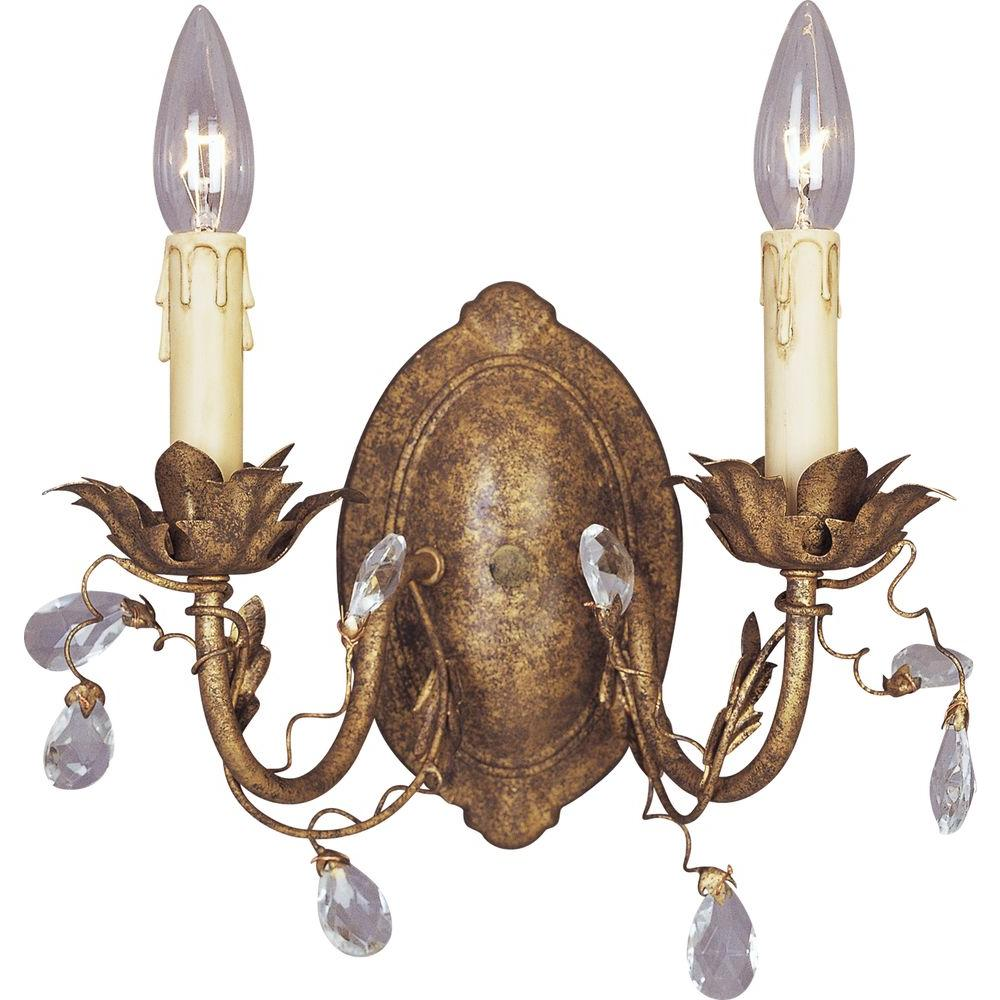 Elegante etruscan wall sconce gold by Maxim Lighting - a beautiful French country wall sconce for your French inspired home.