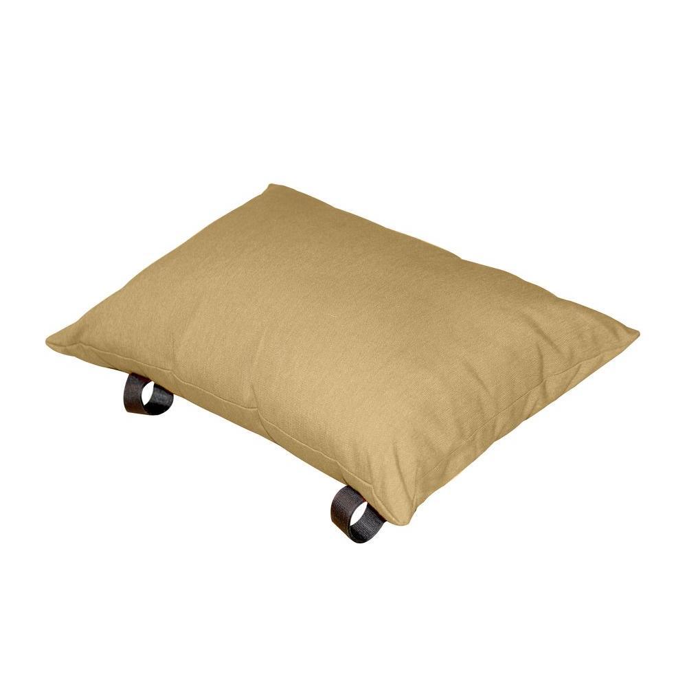 Polyester Sand Dune Solid Lumbar Outdoor Throw Pillow