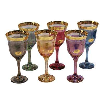Corona Wine Multicolor Goblets (Set of 6)
