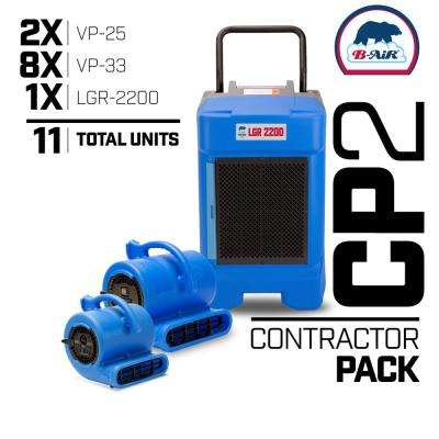 CP-2 Water Contractor Pack 1 LGR Commercial Dehumidifier 8 Air Mover 2 Mini Air Mover