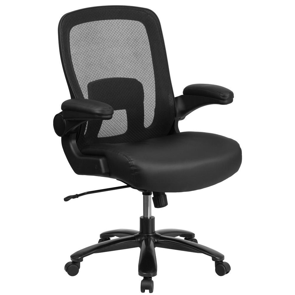 Black Top Grain Leather Chair Hallie Photo 559