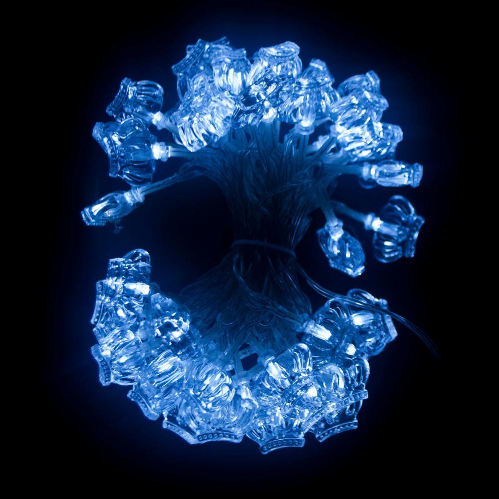 19.5 ft. 50-Light LED White Electric Powered String Lights