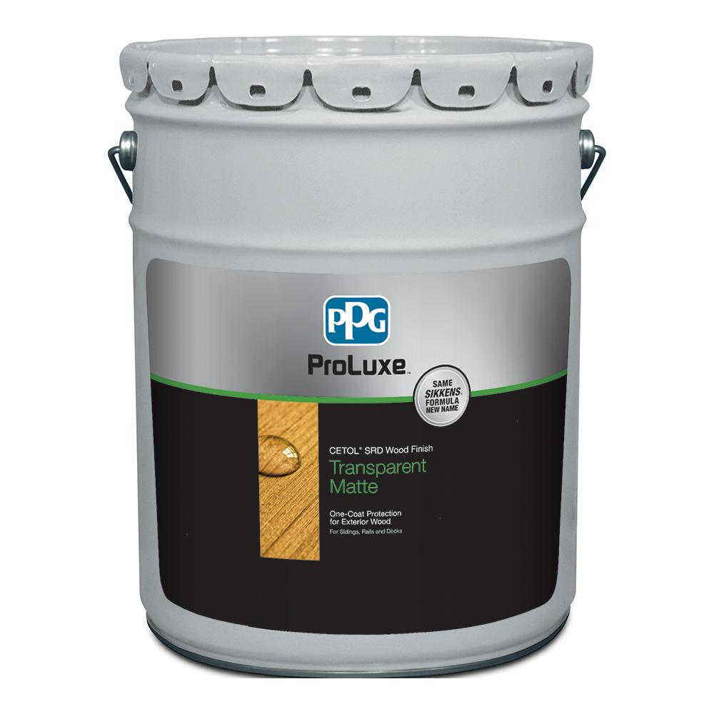 Ppg Proluxe 5 Gal Natural Srd Exterior Transparent Matte Wood Finish Sik240 078 05 The Home Depot