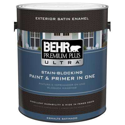 1 gal. Ultra Pure white Satin Enamel Exterior Paint
