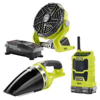 18-Volt ONE+ Radio, Fan and Vac Kit