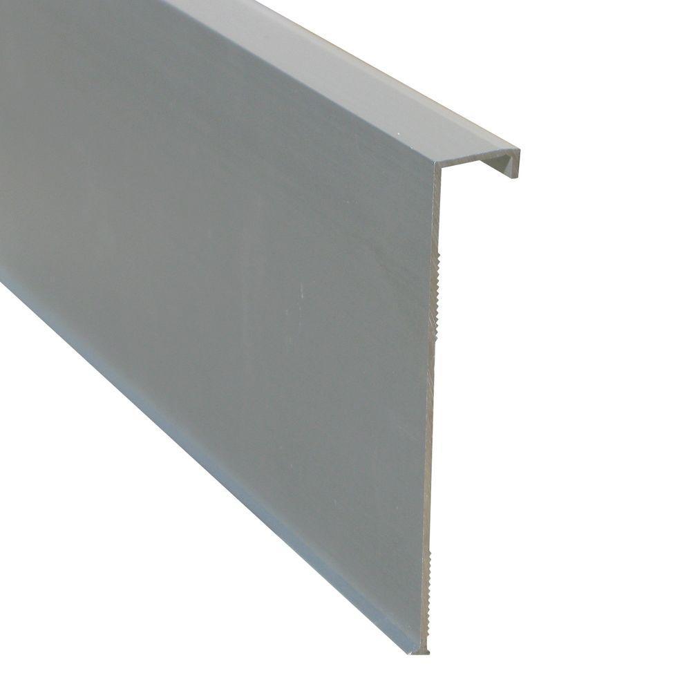 Novorodapie Rehabit Matt Silver 3-1/8 in. x 78 in. Aluminum Baseboard