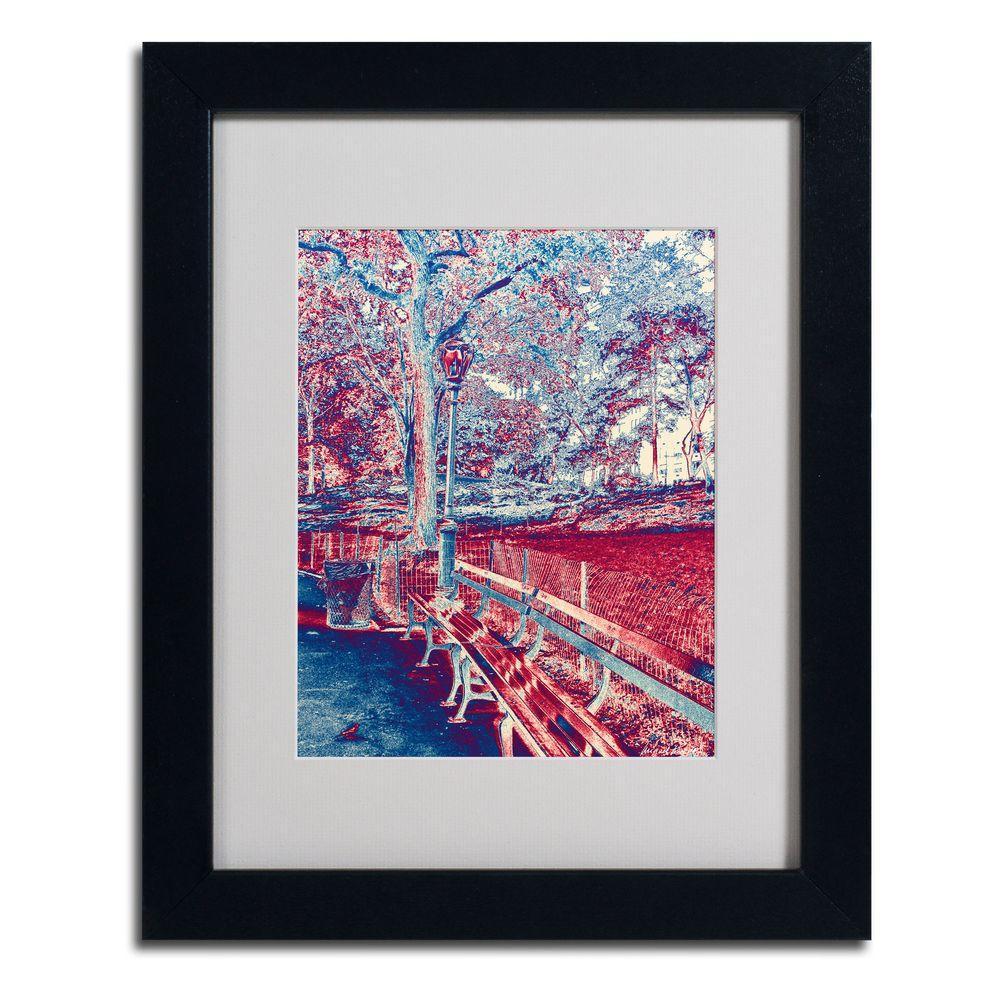 Trademark Fine Art 11 in. x 14 in. Red Blue I Matted Framed Art
