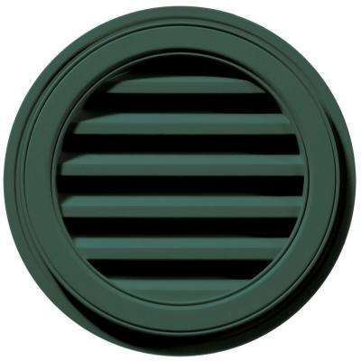 18 in. Round Gable Vent in Forest Green