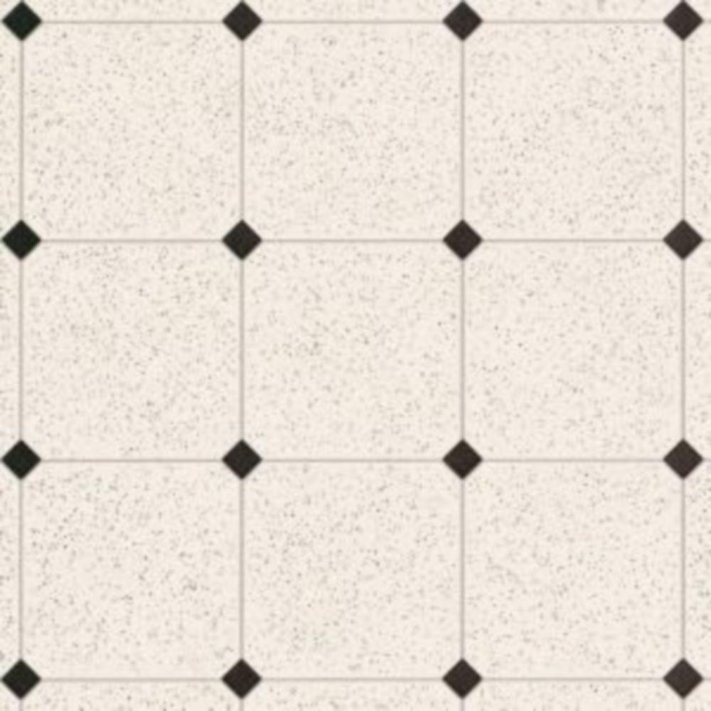 Armstrong Take Home Sample - Royelle Sheffley Black and White Vinyl Plank Flooring - 6 in. x 9 in.