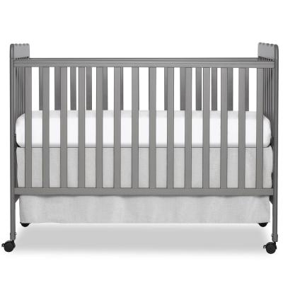 Carson Classic Steel Grey 3-in-1 convertible Crib