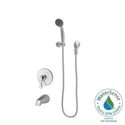 Contemporary Unity 2 0 GPM 1 Spray Tub Hand Shower System in Chrome Valve Included Review - Inspirational bathroom shower heads and faucets For Your House