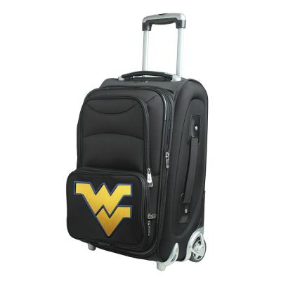 Denco NCAA West Virginia 21 in. Black Carry-On Rolling Softside Suitcase