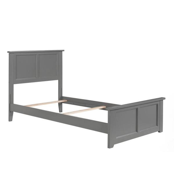 Atlantic Furniture Madison Twin Traditional Bed With Matching Foot