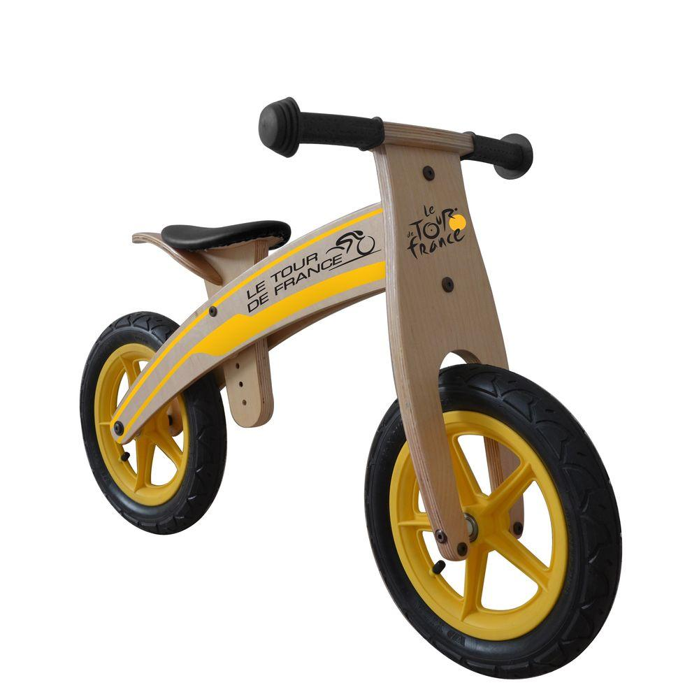 Tour de France Wood Running/Balance Bicycle, 12 in. Wheel...