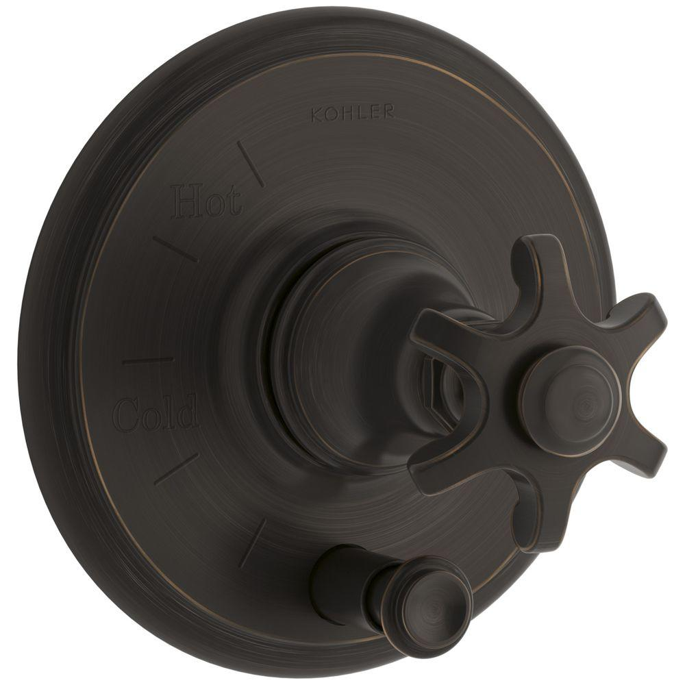 Artifacts Prong 1-Handle Rite-Temp Pressure Balancing Valve Trim Kit in Oil