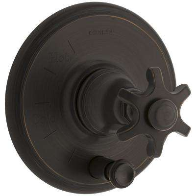 Artifacts Prong 1-Handle Rite-Temp Pressure Balancing Valve Trim Kit in Oil Rubbed Bronze (Valve Not Included)