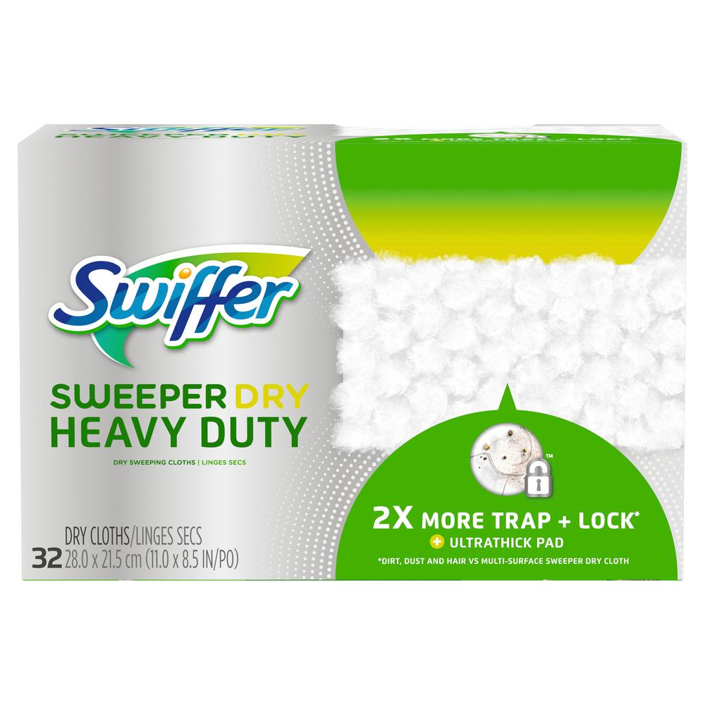 Swiffer Sweeper Dry Heavy Duty Dry Sweeping Cloths 32