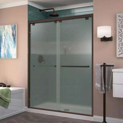55 65 Frosted Alcove Shower Doors Shower Doors The Home Depot