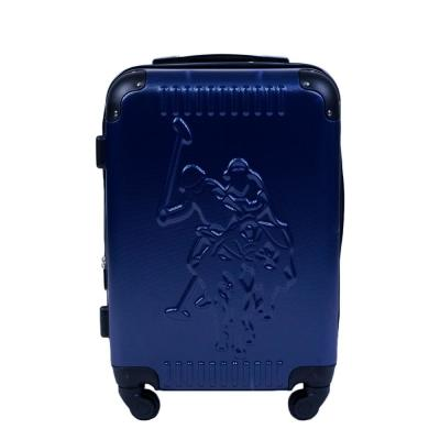 U.S Polo Assn. 21 in. Blue Hard Case Spinner Rolling Suitcase
