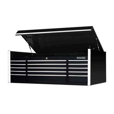 EX Professional Series 72 in. W x 30 in. D x 26.25 in. H 15-Drawer Triple Bank Top Chest, 300 lb. Slides, BLACK