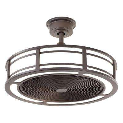 Brette 23 in. LED Indoor/Outdoor Espresso Bronze Ceiling Fan