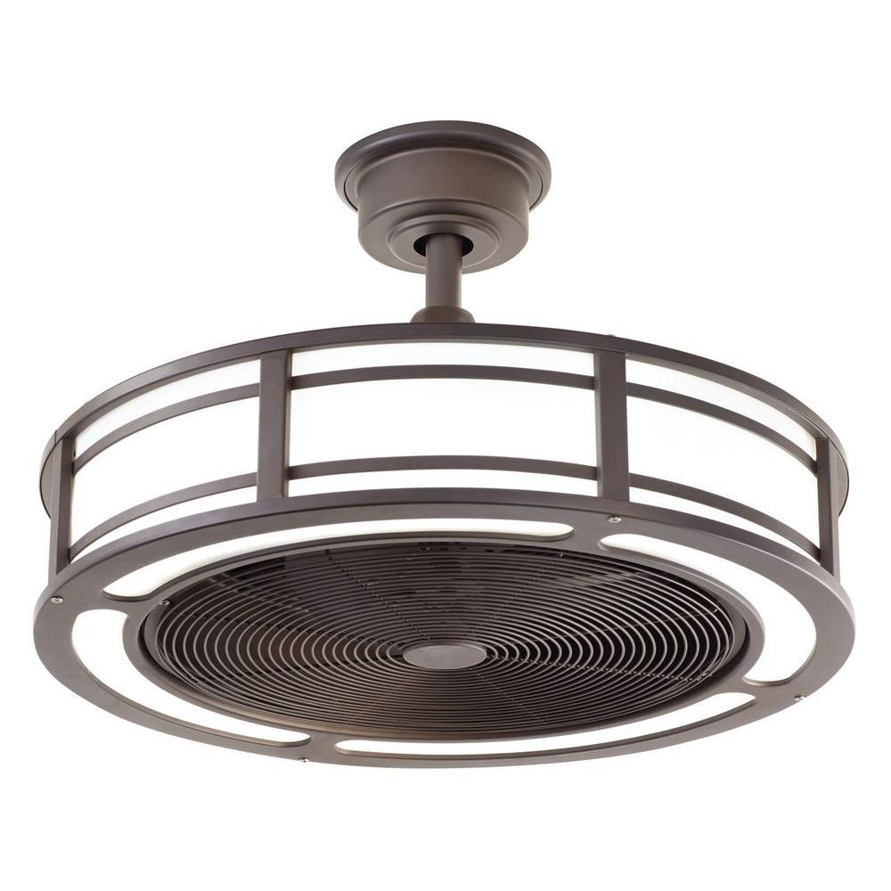 Brette 23 in. LED Indoor/Outdoor Espresso Bronze Ceiling Fan