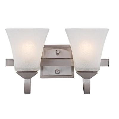 Torino 2-Light Satin Nickel Vanity Light