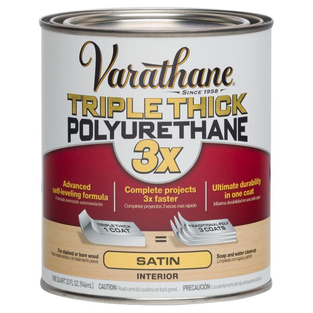 1 qt. Satin Triple Thick Polyurethane (Case of 2)