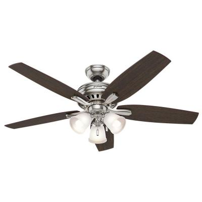 Newsome 52 in. Indoor Brushed Nickel Ceiling Fan with Light Kit