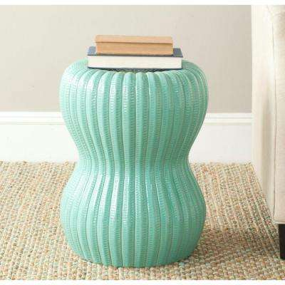 Hour Glass Light Aqua Garden Patio Stool