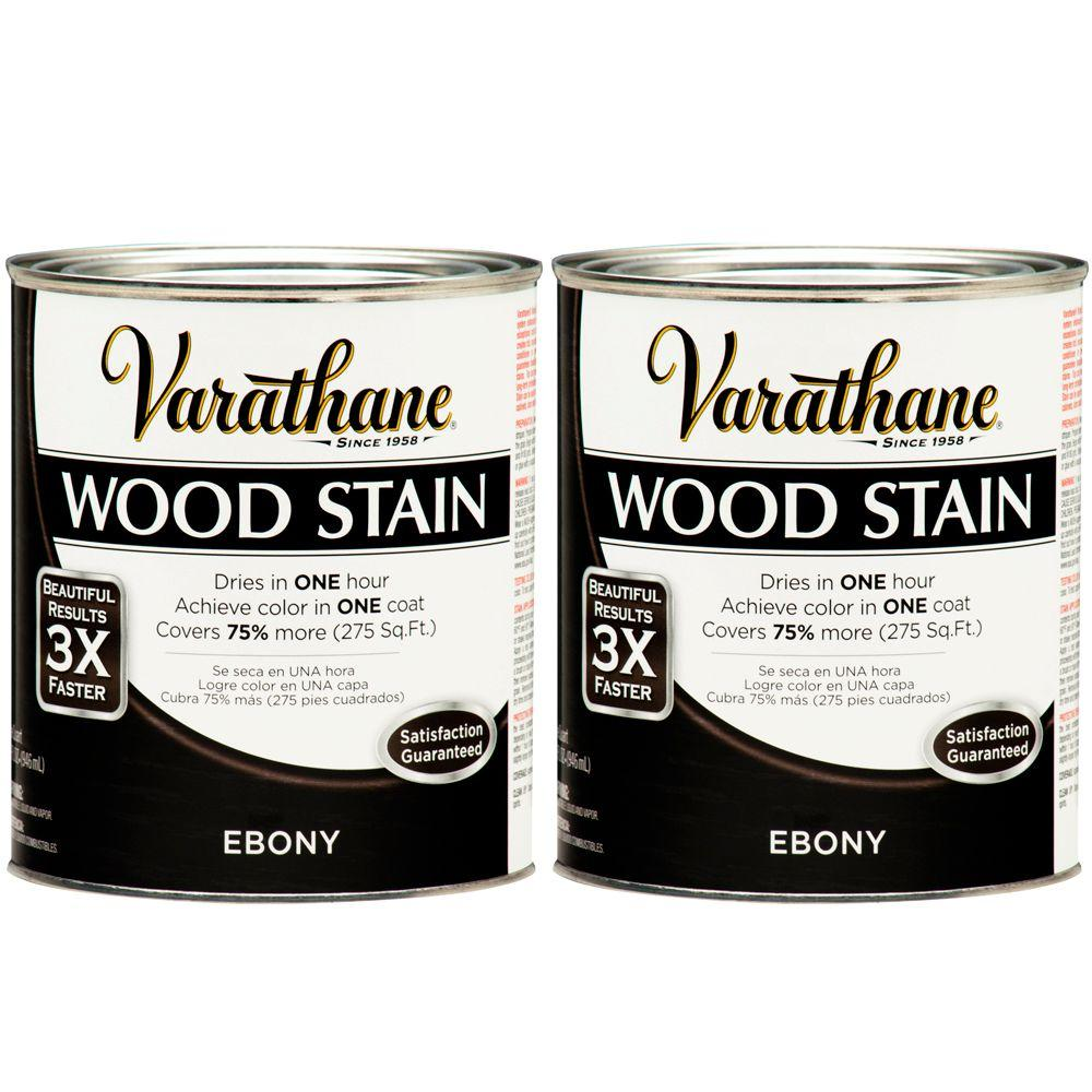 Varathane 1 Qt. Ebony Wood Stain (2-Pack)-DISCONTINUED