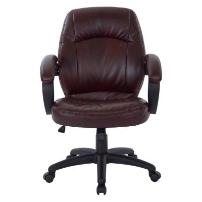 Deluxe Chestnut Brown Faux Leather Managers Chair