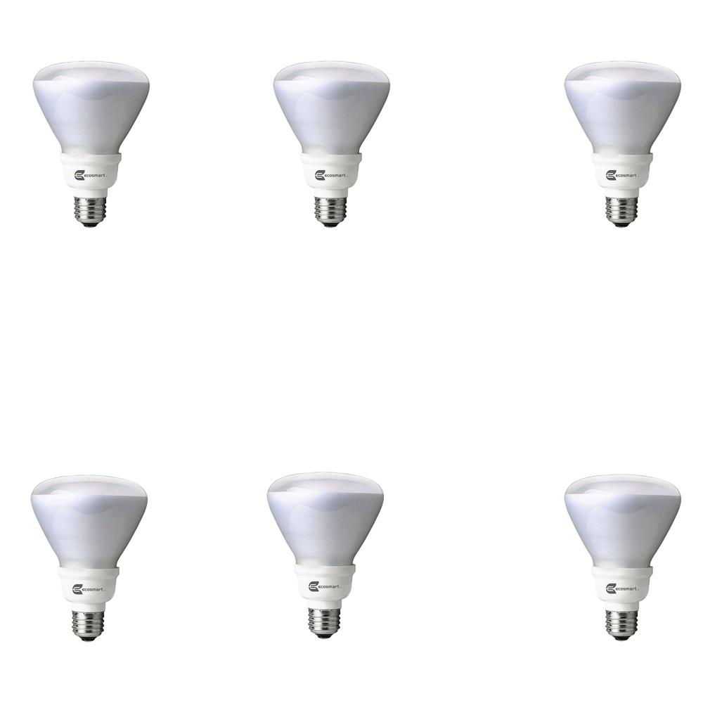60-Watt Equivalent BR30 Non-Dimmable CFL Light Bulb Daylight (6-Pack)