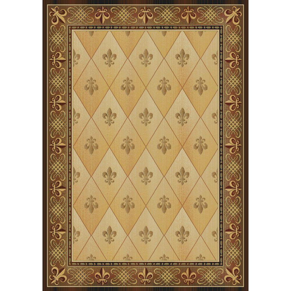 United Weavers Chevalier Gold 5 ft. 7 in. x 7 ft. 10 in. Transitional Area Rug