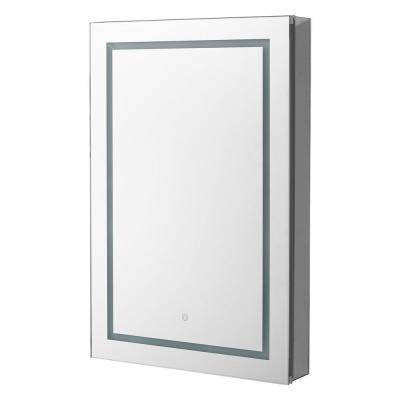 Royale BasicV2 24 in. x 30 in. Recessed or Surface Mount Medicine Cabinet with Single Door, LED Light, Left Hinge