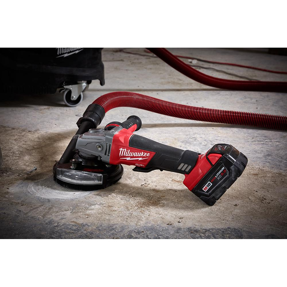 Milwaukee 4 In 5 In Universal Surface Grinding Dust Shroud 49 40 6101 The Home Depot