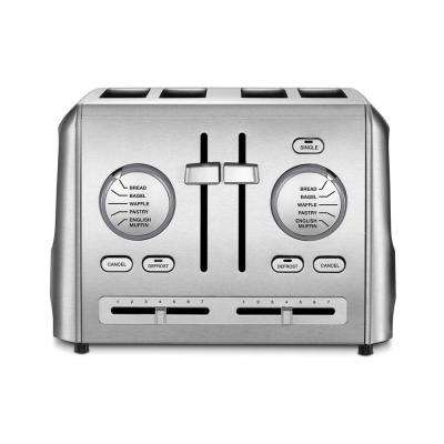 4-Slice Stainless Steel Custom Select Toaster with Crumb Tray