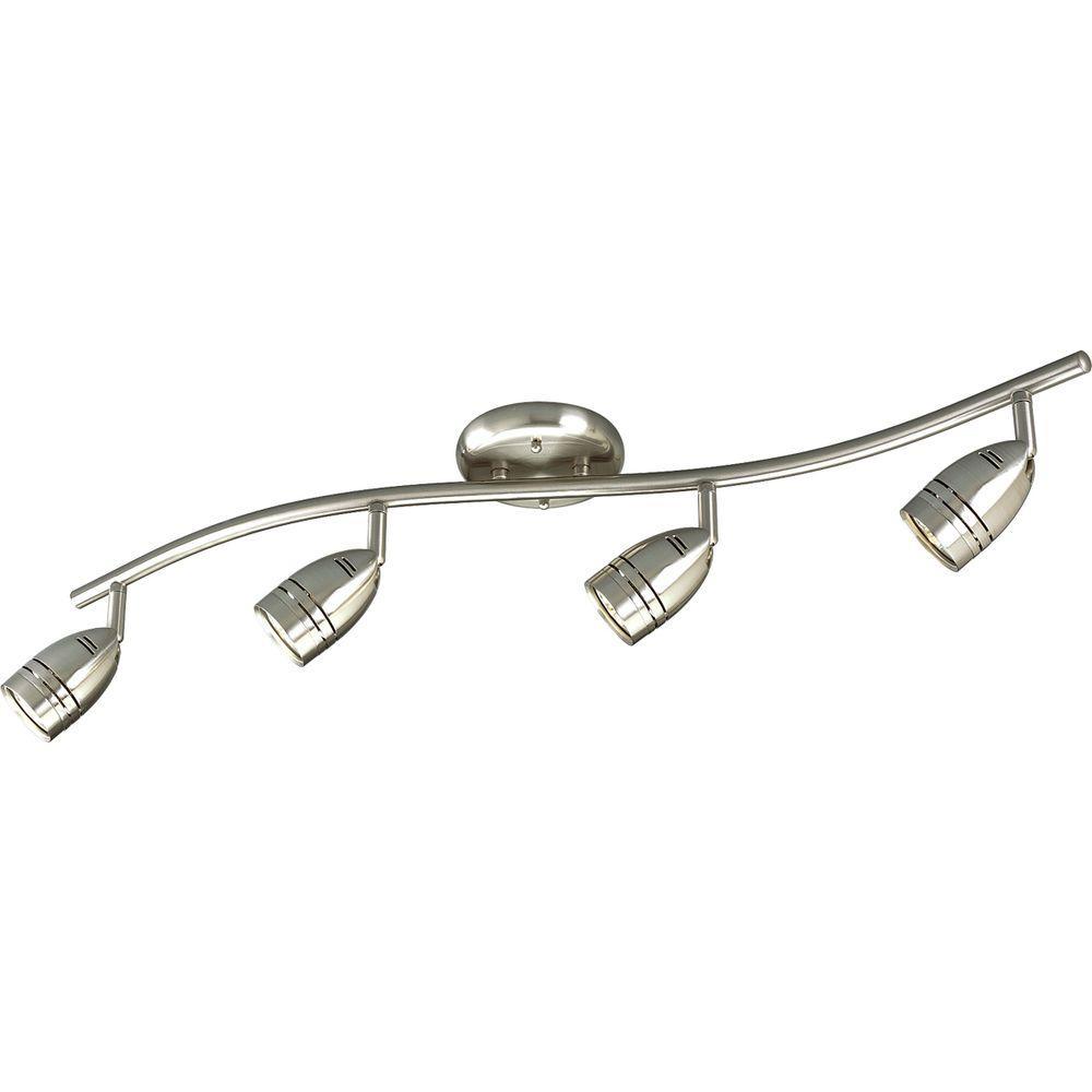 wall track lighting fixtures. Progress Lighting 4-Light Brushed Nickel Track Fixture Wall Fixtures