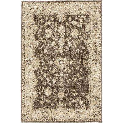 Old Treasures Brown/Cream 3 ft. x 5 ft. Area Rug