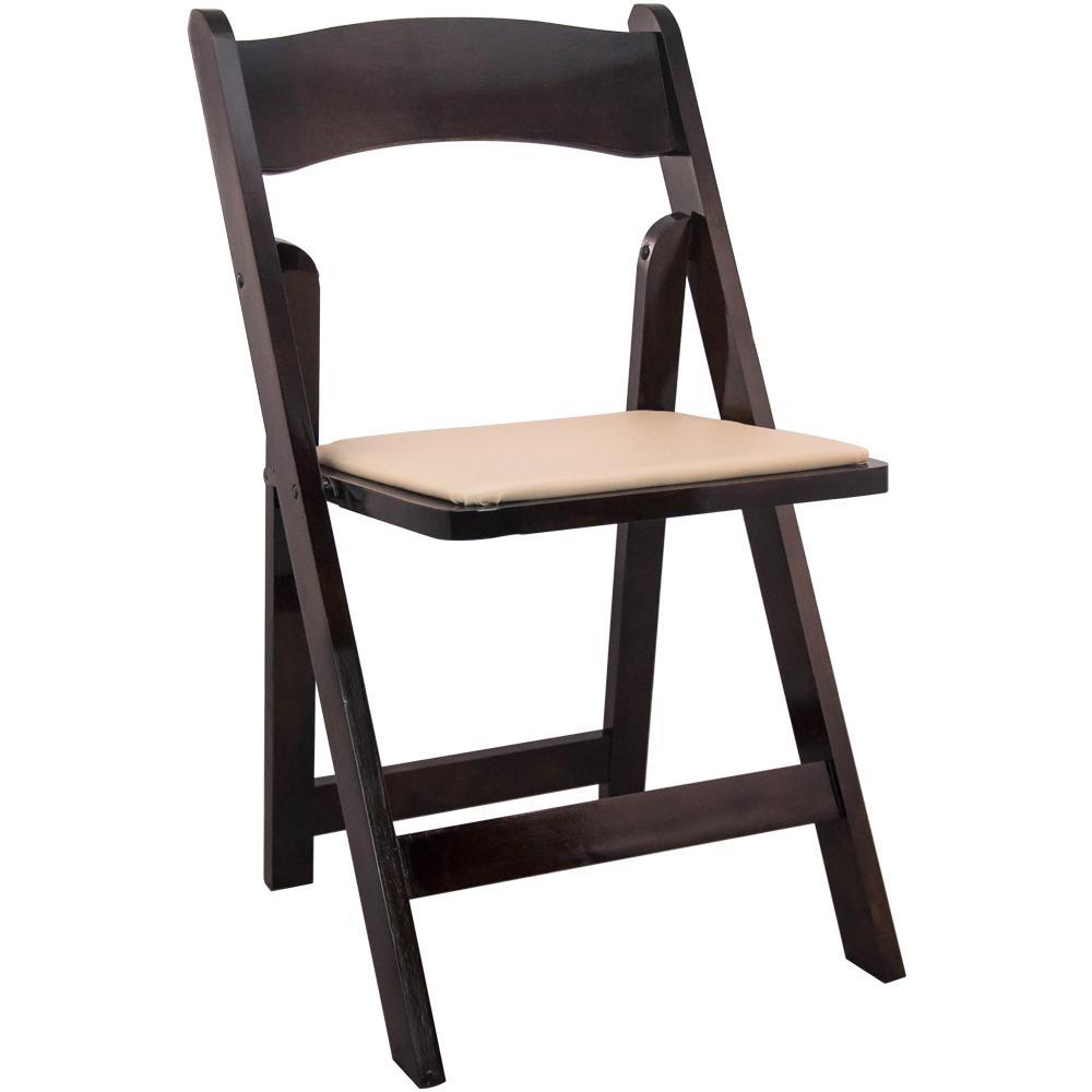Fruitwood Wood Folding Wedding Chair