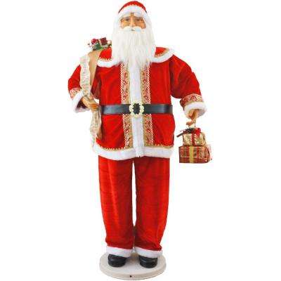 58 in. Christmas Dancing Santa with Gifts in Hand