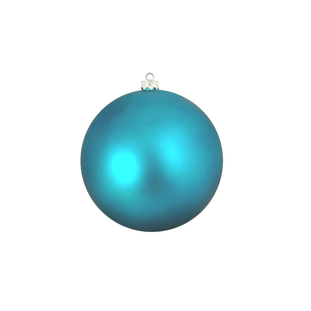 northlight shatterproof matte turquoise blue uv resistant commercial christmas ball ornament