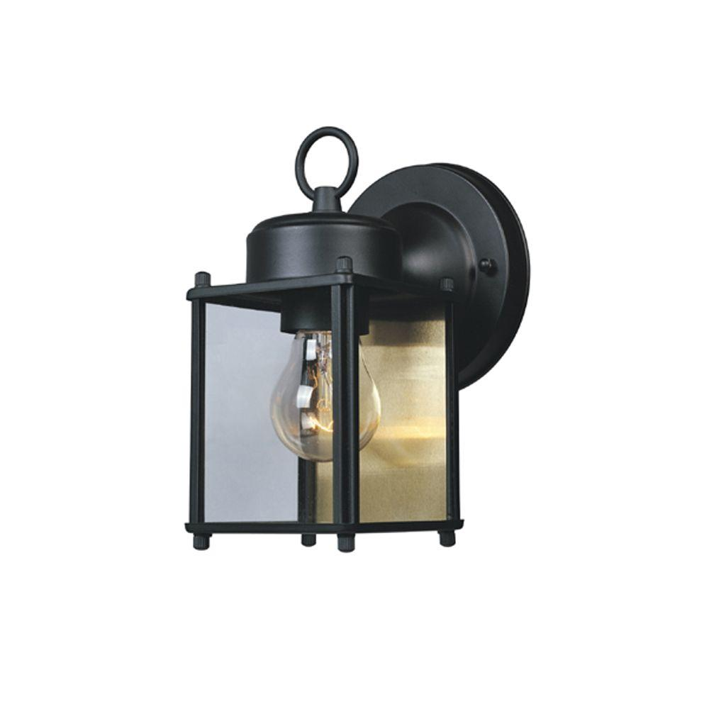 Designers Fountain Preston Collection Black Outdoor Wall-Mount Lantern