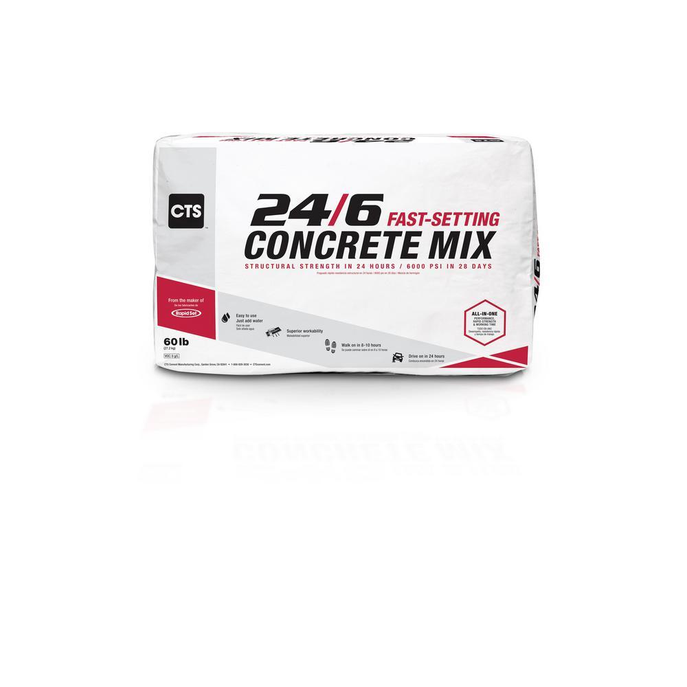 60 lbs. 24/6 Fast-Setting Concrete Mix