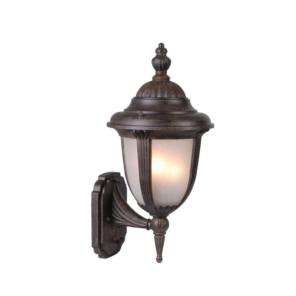 Acclaim Lighting Monterey Collection Wall-Mount 1-Light Outdoor Matte Black Light Fixture