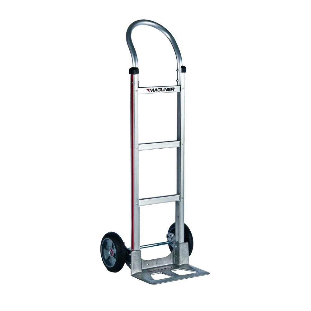 Magliner 500 Lb Capacity Aluminum Modular Hand Truck With Horizontal Loop Handle And Mold On Rubber Wheels Hmk111aa1 The Home Depot
