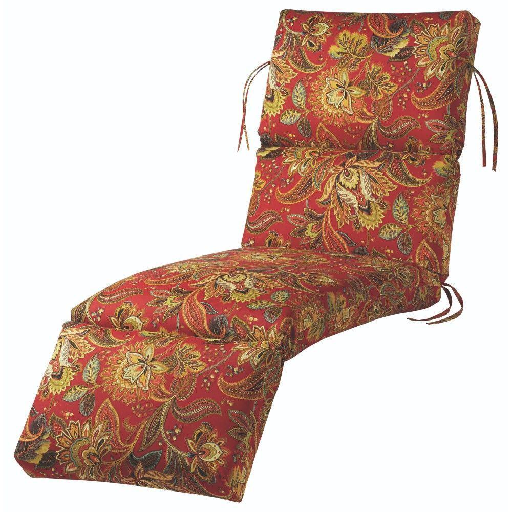 Valbella Blaze Outdoor Chaise Lounge Cushion