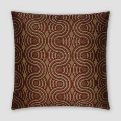 Groove Brick Feather Down 18 in. x 18 in. Standard Decorative Throw Pillow